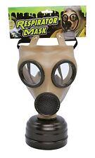 Realistic WW1 Gasmask & Filter WW2 1940 Respirator Fancy Dress Costume Accessory