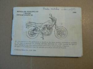 HONDA NIGHTHAWK 650 CB650C  OWNER'S MANUAL 1984 HONDA MOTOR CO LTD