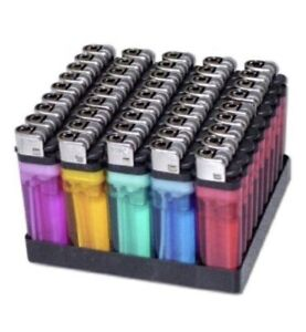 100 Lighters Disposable Classic Lighter
