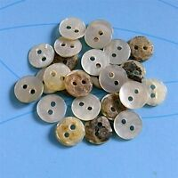 25 Real Akoya Pearl Shell Mini Tiny Small Doll Sewing Buttons 7.5mm Natural D268