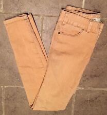 Free People Sz 24 Measures 27 X 30.5 Mustard Skinny Colored Jeans