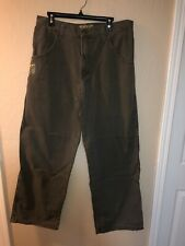JNCO Mens Smoke Stack Sz 36 x 34 Green/Gray Jeans Pants Baggy 90's Easy Wide Usa