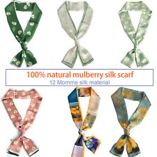 15x150cm Fashion 100% Natural Mulberry Silk Double layers Scarf w/Little daisy