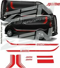 Vauxhall Vivaro Sportive Decals stickers stripes  any colour quality panel fit