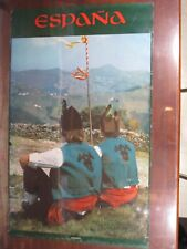 """Asturias Spain Poster One Sided 38"""" x 26"""" Mountains and People PO31"""