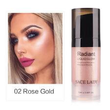 Liquid Brighten Shimmer Shiny Face Illuminator Glow Kit Bronzer Highlight Set Rose Gold