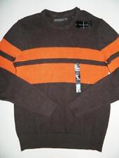 Sean John Men Coffee Striped Sweater 100% Cotton NWT Size L MSRP$64 SW1212