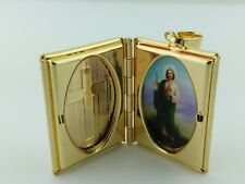 Saint Jude pendant Locket Gold Plated  With Figaro necklace