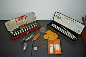 Outers 22 Cal Rifle & 12 Ga Gun Cleaning Kit with Cases Not Complete + Gun Parts
