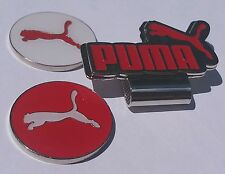 Brand New Double Red/White Puma Golf Ball marker with hat clip!!