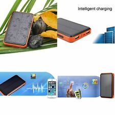 10000mah Mobile Phone Solar Power Bank Waterproof Double USB Battery Charger