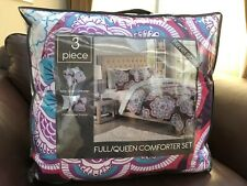 3 Piece Reversable Full/Queen Comforter Set- Macys New In Bag