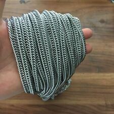 Lot 2 meter in bulk Stainless Steel Curb Chain Link Jewelry finding 7mm Silver