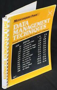 Data Management Techniques, BASIC Language, Spiral Bound Book