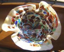 BEAUTIFUL VINTAGE MURANO ART GLASS TUTTI FRUITTI BOWL/CENTREPIECE END OF DAY VGC