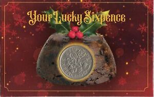 Your Lucky Christmas Xmas Pudding Old Sixpence Coin Celebration Coin Gift