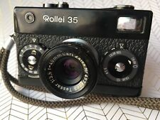 Black Rollei 35 EX Condition Germany Fully Functional CLA'd W/wrist Strap