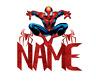Personalised Spiderman Superhero Birthday Cake Topper Any Name