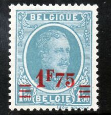 BELGIUM 1927 King Albert I 1fr75 Surcharge on 1fr50 Blue SG 437 MINT