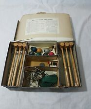 VINTAGE PRE WAR CHAD VALLEY TABLE TOP CROQUET SET BOXED