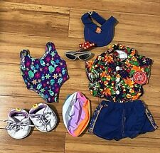 Build a Bear Clothes & Accessory Lot Summer Bathing Suit Sunglasses Sneakers