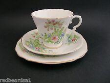 Royal Stafford English Vintage Bone China Trio Tea Cup Saucer Plate Primula