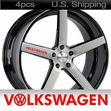 4 VOLKSWAGEN Stickers Decals Door handle Wheels sticker gti VW Golf jetta RED
