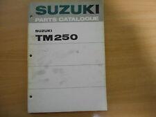 Teile-Katalog  Suzuki TM 250 ( J, K) parts catalogue de pieces