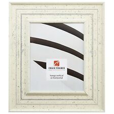 """Craig Frames Traditional, 3"""" Weathered Off-White Wood Picture Frame"""