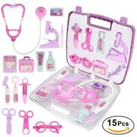 Kids Role Play Medical Doctor Kit Equipment Nurse Case Toy Gift Pink/Purple