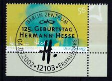 BRD 2002 gestempelt ESST Berlin Eckrand MiNr. 2270  125.Geburtstag Hermann Hesse