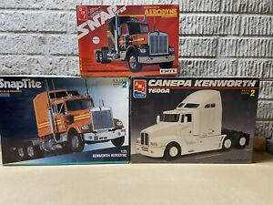 Plastic Model 3 Kit Lot Semi Tractors Parts Junkyard, Complete? Please Read