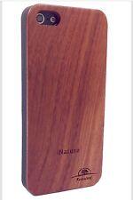 IPHONE 5/5S, SE ROSE WOOD CASE GENUINE REAL WOOD HARD BACK SLIM LUXURY COVER