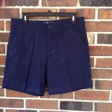 NWT Ladies 6 Navy Blue Shorts 100% Cotton American Living 9.5 Inseam Pocket