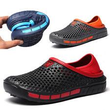Mens Clogs Slipper Nursing Garden Beach Sandals Solid Rubber Pool Casual Shoes