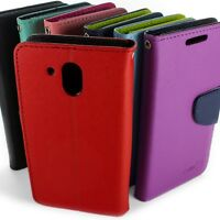 Wallet Pouch Flip Stand Phone Cover Case w/ Screen Protector for HTC Desire 526