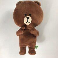 """Line Plush Bear Big Head 15"""" Stuffed Teddy Soft Cuddly Kids Toy Brown Animal"""