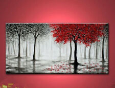 "New Arts Abstract Canvas Modern Wall oil painting ""RED TREE""(no framed)"