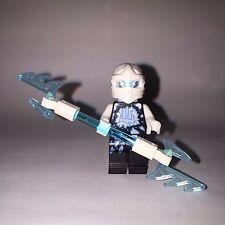 Lego Ninjago ZANE Minifigure w/ Elemental Ice Spear NEW from 70730 Chain Cycle