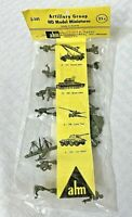 Vintage HO Model Miniatures AHM Z-117 ARTILLERY GROUP Soldier Figures Sealed