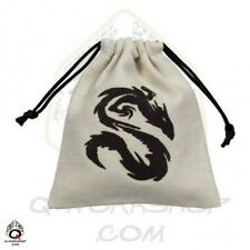Q-workshop Dice Bag Chinese Dragon Linen w/ Drawstring BCDR101