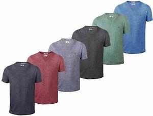 Hilfiger Denim Tommy Herren V Neck T Shirt meliert