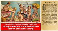 Hi Res Old VICTORIAN MEDICINE CARDS EPHEMERA Vintage Pictures Scrapbook Art DVD