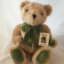 Harrods 1995 Teddy Bear Plush Ten Teddies Anniversary Green Bow Knightsbridge