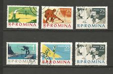 pêche sportive 1962 Roumanie 6 timbres oblitérés /T4315