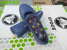 CROC CROCBAND WINTER FLAT OLIVIA ALICE MARY JANE PRIMA SHOE~Bijou Blue~W 9~NWT