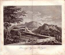 Tarragona Pass Paso Balaguer Spanien España Kupferstich Grabado 1811