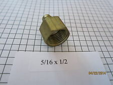 "5/16"" Flare x 1/2"" Female Pipe Fitting Female Coupling Adapter Flare by FIP New"