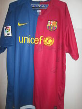 Barcelona 2008-2009 Squad Firmado Home Football Shirt Coa / 15663