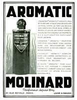 Publicité ancienne parfum aromatic Molinard 1931 issue de magazine